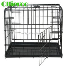 Ollieroo best quality Black Color portable Dog Kennel with ABS Tray