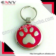 Pet Charm PAW ID tag, Pet ID tag with dog paw