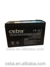 Sealed lead acid battery 12v 7ah rechargeable battery