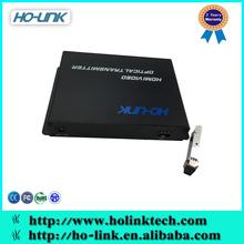 CCTV Camera HDMI Video over fiber optical converter transmitter,1Ch Forward HDMI video+1Ch Forward Audio+1Ch Forward RS232 Data