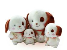 cute lovely plush dog with big head eyes toy