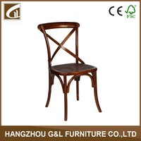 Rattan solid Wood Cross Back Dining Chair