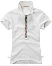 diseño de moda nuevo manga corta blanca los hombres camisa de polo
