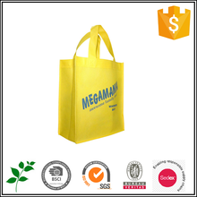 Promotional cheap yellow non woven shopping bag