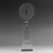 Sports awards with base for business gifts factory direct customized K9 glass badminton pingpong basketball trophy