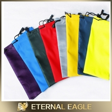 Multifunctional suede drawstring pouch,dirt removing microfiber glass cleaning cloth