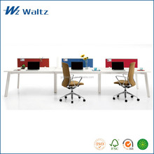 New fabric desktop partition 6 person MFC/MDF board working computer office workstation desk