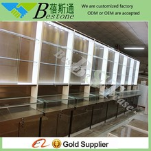 fashion tabletop wood glass used jewelry display cases cabinet for jewellery retail store