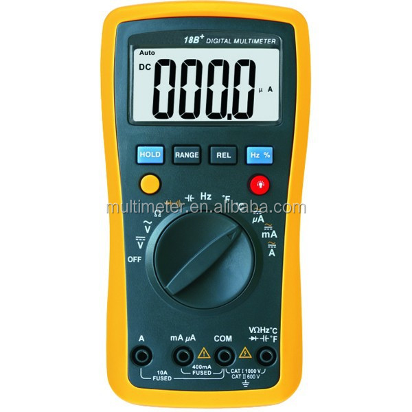 Max.Display 4000 Count AC/DC Auto Range Digital Multimeter With Buzzer Temperature Capacitance Frequency Function 18B+