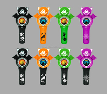 halloween light up novelty LED light up flashing spinner wand for kids toy