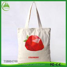 New arrival wholesale fashion latest ladies cotton tote fruit handled bag