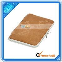 """Protective Sponge + Cloth Soft Sleeve Bag Pouch Case For 7"""" Tablet Notebook Brown"""