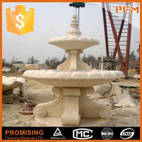 Large castle garden designs marble water fountain with statue