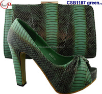 CSB1187 Fashion special design Italy woman shoes with match bag high heel shoes for lady for party and daily shoes