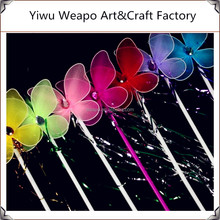 New Fashion Hot Sale Cheap Wooden Wand Colorful Girls Party Butterfly Wand