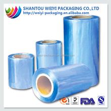 Plastic material vivid blue film naked for packaging