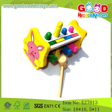 OEM Wholesale Wooden Tools Toy Kids Pound Toys Pop Up Toy