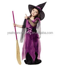 Hot sale kids witch halloween costumes for girls