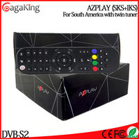 Satellite receiver wifi AZPLAY with IKS SKS TWIN Tuner for South America 1080P satellite receiver all channels