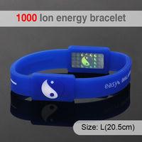 1000 ion Fashion Health DIY Silicone Promotion Wristband With Logo