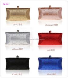 1212 multi-color plain party clutch bag