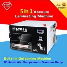 Smart phone oca film laminating machine with dubble bubble remove function built-in air compressor and vacuum pump