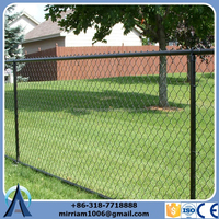 high quality 5 foot plastic PVC coated chain link fence (direct factory)
