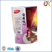 Food service chicken jerky packing bag/Three-side seal bag for meat packing/Plastic food bag