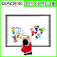 "China manufacturer movable 82"" interactive whiteboard with stand free software for sale"