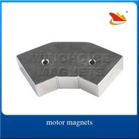 Motor Neodymium Arc Magnets N35H Customized