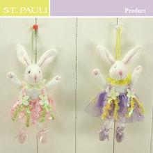 easter lace bunny decor sedex audit factory supply 6 inch decorative purple rabbit plush toys