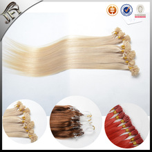 New products nail u-tip hair extentions 6A best keratin blonde virgin hair