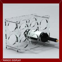6 bottle circle hole acrylic wine display holder