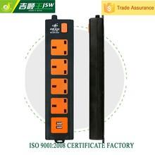 BS 3 power 2 usb pop up socket,3 square pin plug,3 pin uk adapter China