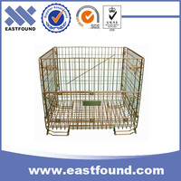 Storage metal galvanized foldable steel stillage crate for sale