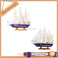 Wholesale hand carved wooden antique wood model sailing boat
