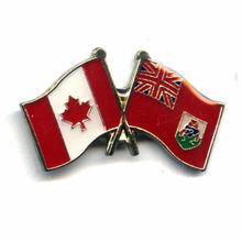 moda personalizado que hace singular de metalinsignia de solapa alfileres de canadá y de las bermudas pin de la bandera