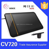 Ugee drawing tablet CV720 8x5 inches 5080LPI 2048 levels writing tablet in education
