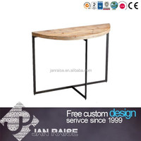 Metal frame wooden table top end table side table OK-103028