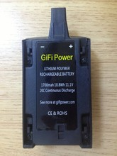 GIFI 1700mAh 11.1V Lipo Battery Upgrade for Parrot Bebop Drone 3.0 Quadcopter