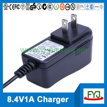 electric car battery charger 8.4v 1000ma for 7.4v lithium ion battery pack with EU US UK AU plug YJP-084100