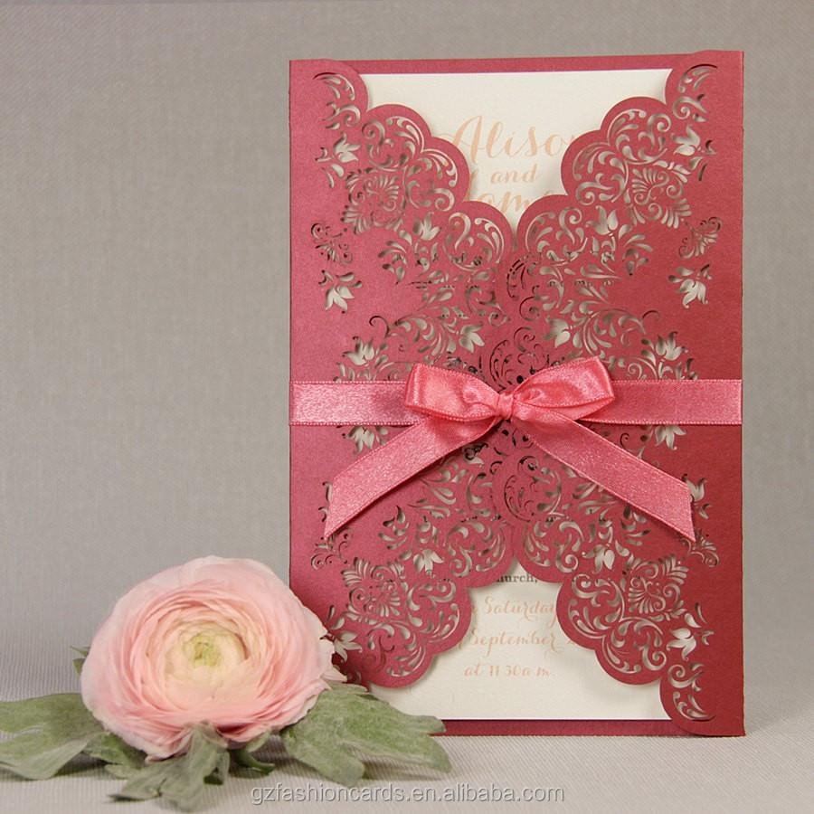 Fashion Gold Ivory Royal Arabic Wedding Invitation Card Material ...