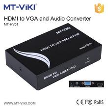 MT-VIKI factory supplier hdmi to vga converter metal housing converter hdmi to vga home hdmi to vga rca x 3 cable converter