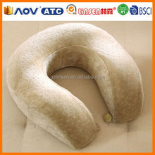 Latest Popular Wholesale memory foam u shape neck pillow case