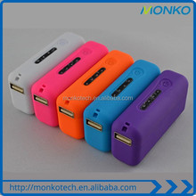 Mini Portable Customized Logo cell phone charger 2600mah Pink powerbank