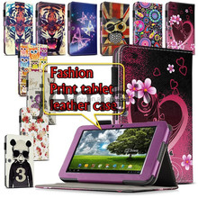 Hotsale Printed Wallet PU Leather Tablet Case for Asus Eee Pad TF101