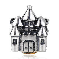 Authentic 925 Sterling Silver Queen Castle Charm Beads with Screw
