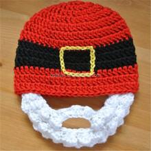 christmas kids gift crochet beard santa hat