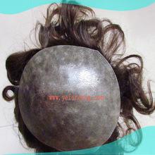 Full Handtied Indian Human Hair Thin Skin WIgs Men