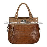 2015 Spring & Summer Crocodile Skin Genuine Leather Lady Handbag